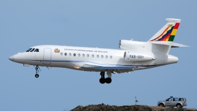 Photo ID 157377 by Alejandro Hernández León. Bolivia Air Force Dassault Falcon 900EX, FAB 001