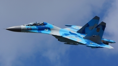 Photo ID 157859 by Lukas Kinneswenger. Ukraine Air Force Sukhoi Su 27UB, 69 BLUE