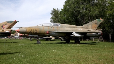 Photo ID 158197 by Carl Brent. East Germany Air Force Mikoyan Gurevich MiG 21US, 215