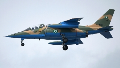Photo ID 158392 by Mike Hopwood. Nigeria Air Force Dassault Dornier Alpha Jet A, NAF475