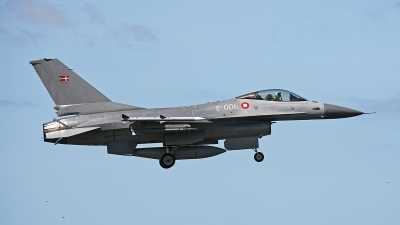 Photo ID 158503 by Jan Eenling. Denmark Air Force General Dynamics F 16AM Fighting Falcon, E 006