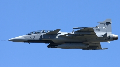 Photo ID 158650 by Thomas Ziegler - Aviation-Media. Hungary Air Force Saab JAS 39 EBS HU D Gripen, 42