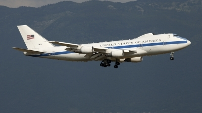Photo ID 159320 by Claudio Tramontin. USA Air Force Boeing E 4B 747 200B, 73 1677