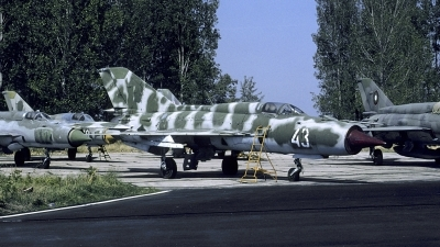 Photo ID 159336 by Joop de Groot. Bulgaria Air Force Mikoyan Gurevich MiG 21PFM, 43