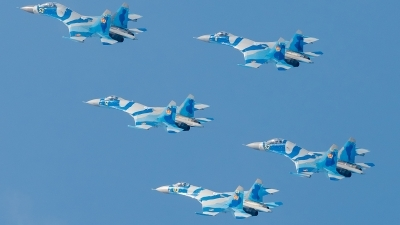 Photo ID 159626 by Alex van Noye. Kazakhstan Air Force Sukhoi Su 27M2,