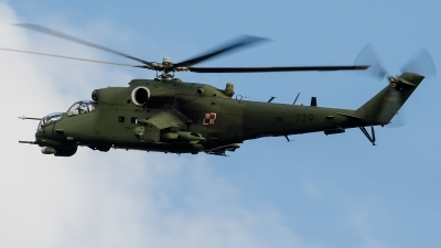 Photo ID 159853 by Alex van Noye. Poland Army Mil Mi 24V, 739