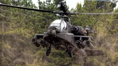 Photo ID 159978 by Ron Kellenaers. Netherlands Air Force Boeing AH 64DN Apache Longbow, Q 13