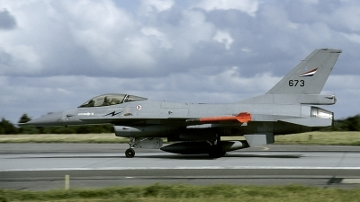 Photo ID 160036 by Joop de Groot. Norway Air Force General Dynamics F 16A Fighting Falcon, 673