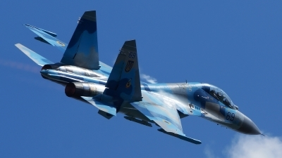 Photo ID 160149 by Lukas Kinneswenger. Ukraine Air Force Sukhoi Su 27UB, 69 BLUE
