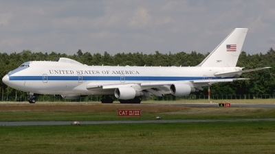 Photo ID 160362 by Günther Feniuk. USA Air Force Boeing E 4B 747 200B, 73 1677