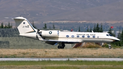 Photo ID 160637 by Peter Terlouw. Pakistan Air Force Gulfstream Aerospace G IV SP Gulfstream IV, J 755
