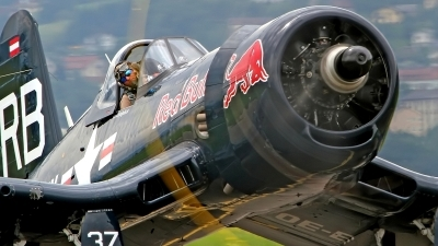 Photo ID 160965 by Werner P. Private Red Bull Vought F4U 4 Corsair, OE EAS