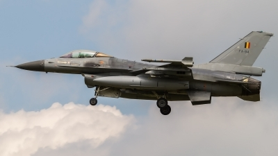 Photo ID 161498 by Michal Kuna. Belgium Air Force General Dynamics F 16AM Fighting Falcon, FA 94