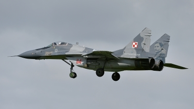 Photo ID 161850 by Lieuwe Hofstra. Poland Air Force Mikoyan Gurevich MiG 29A 9 12A, 114