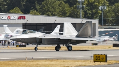 Photo ID 161901 by Aaron C. Rhodes. USA Air Force Lockheed Martin F 22A Raptor, 07 4137