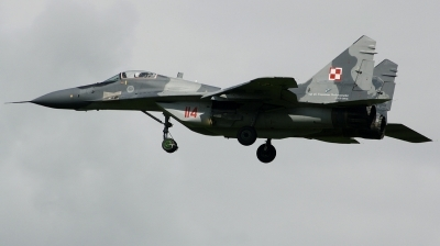 Photo ID 162135 by Arie van Groen. Poland Air Force Mikoyan Gurevich MiG 29A 9 12A, 114