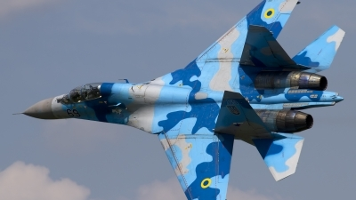 Photo ID 163211 by Chris Lofting. Ukraine Air Force Sukhoi Su 27UB, 69 BLUE