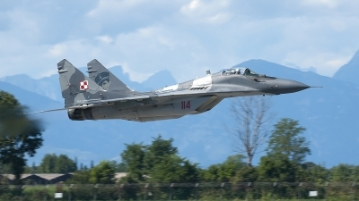 Photo ID 163633 by Jörg Pfeifer. Poland Air Force Mikoyan Gurevich MiG 29A 9 12A, 114