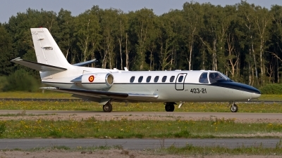Photo ID 163737 by Niels Roman / VORTEX-images. Spain Air Force Cessna 560 Citation V, TR 20 03