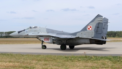Photo ID 163872 by Lieuwe Hofstra. Poland Air Force Mikoyan Gurevich MiG 29G 9 12A, 4116