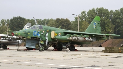 Photo ID 165599 by Chris Lofting. Ukraine Air Force Sukhoi Su 25M1, 04 BLUE