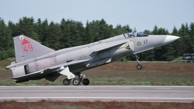 Photo ID 165800 by Chris Lofting. Sweden Air Force Saab JA37 Viggen, 37349