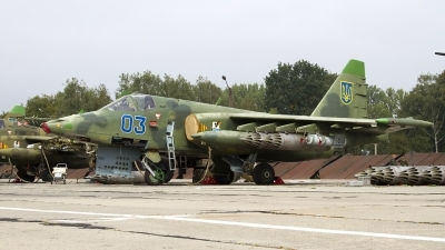 Photo ID 165790 by Chris Lofting. Ukraine Air Force Sukhoi Su 25, 03 BLUE