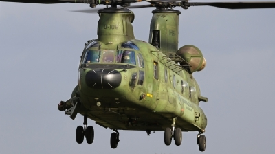 Photo ID 166664 by Jimmy van Drunen. Netherlands Air Force Boeing Vertol CH 47D Chinook, D 106