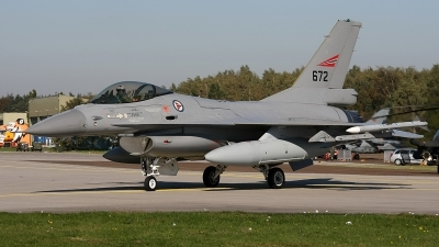 Photo ID 167276 by Jan Eenling. Norway Air Force General Dynamics F 16AM Fighting Falcon, 672