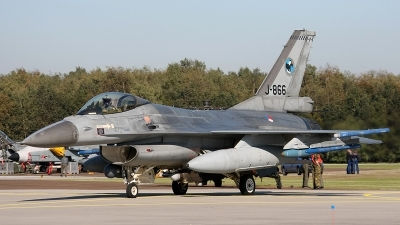 Photo ID 167350 by Jan Eenling. Netherlands Air Force General Dynamics F 16AM Fighting Falcon, J 866