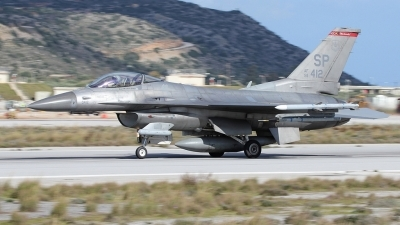 Photo ID 167454 by Stamatis Alipasalis. USA Air Force General Dynamics F 16C Fighting Falcon, 91 0412