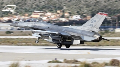 Photo ID 167488 by Stamatis Alipasalis. USA Air Force General Dynamics F 16C Fighting Falcon, 91 0412