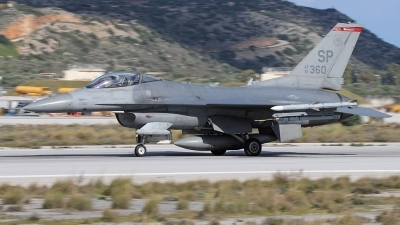 Photo ID 167866 by Stamatis Alipasalis. USA Air Force General Dynamics F 16C Fighting Falcon, 91 0360
