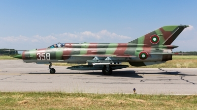 Photo ID 167974 by Andreas Zeitler - Flying-Wings. Bulgaria Air Force Mikoyan Gurevich MiG 21bis SAU, 358