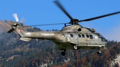 Photo ID 168284 by Ludwig Isch. Switzerland Air Force Aerospatiale AS 332M1 Super Puma, T 315