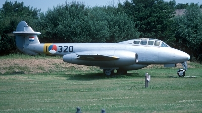 Photo ID 168349 by Carl Brent. Netherlands Air Force Gloster Meteor T 7, I 320