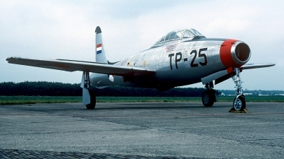 Photo ID 168324 by Carl Brent. Netherlands Air Force Republic F 84E Thunderjet, K 6
