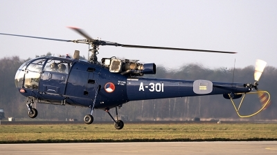 Photo ID 168412 by rob martaré. Netherlands Air Force Aerospatiale SA 316B Alouette III, A 301