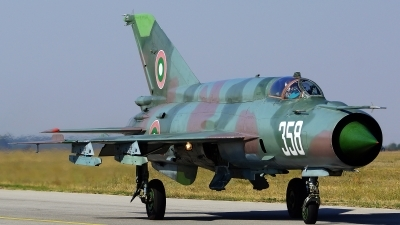 Photo ID 168897 by Lukas Kinneswenger. Bulgaria Air Force Mikoyan Gurevich MiG 21bis SAU, 358