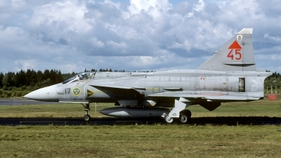Photo ID 169077 by Joop de Groot. Sweden Air Force Saab JA37D Viggen, 37445