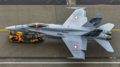 Photo ID 169500 by Martin Thoeni - Powerplanes. Switzerland Air Force McDonnell Douglas F A 18C Hornet, J 5018