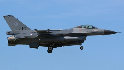 Photo ID 169524 by Ian Nightingale. Netherlands Air Force General Dynamics F 16AM Fighting Falcon, J 513