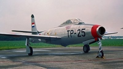 Photo ID 169587 by Peter Terlouw. Netherlands Air Force Republic F 84E Thunderjet, K 6