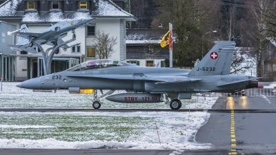 Photo ID 169889 by Martin Thoeni - Powerplanes. Switzerland Air Force McDonnell Douglas F A 18D Hornet, J 5232