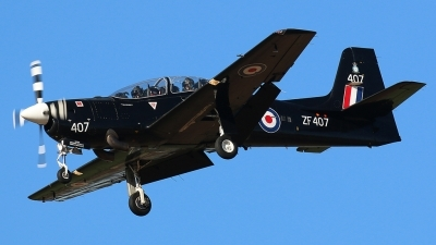 Photo ID 170995 by Ian Nightingale. UK Air Force Short Tucano T1, ZF407