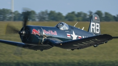Photo ID 171388 by Martin Thoeni - Powerplanes. Private Red Bull Vought F4U 4 Corsair, OE EAS
