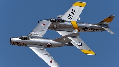 Photo ID 171621 by W.A.Kazior. Private Planes of Fame Air Museum Mikoyan Gurevich MiG 15bis, NX87CN