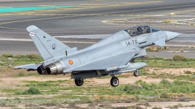Photo ID 172560 by Adolfo Bento de Urquia. Spain Air Force Eurofighter CE 16 Typhoon EF 2000T, CE 16 11