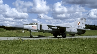 Photo ID 173236 by Marinus Dirk Tabak. Poland Air Force Mikoyan Gurevich MiG 23MF, 115