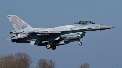 Photo ID 173307 by Rainer Mueller. Poland Air Force General Dynamics F 16C Fighting Falcon, 4041